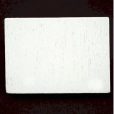 ピンバッジ・New!白い木5個1セット長方形バタフライ型キャッチ付き