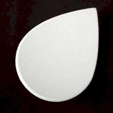 ピンバッジ・New!白い木5個1セット水滴しずく型バタフライ型キャッチ付き