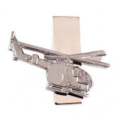 ピンズ・銀色ヘリコプター航空機