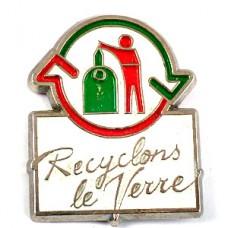 ピンズ・瓶のリサイクルマーク矢印