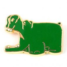 ピンズ・グリーン緑色のカバ河馬