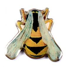 ピンズ・ミツバチ蜜蜂の背中