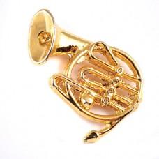 ピンズ・金色のホルン音楽ゴールド楽器