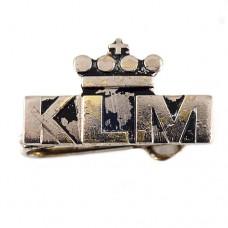 ブローチ・KLMオランダ航空シルバー銀色