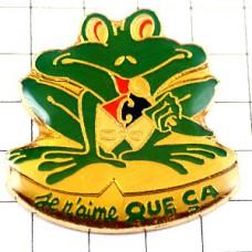 ピンバッジ・カルフールCミドリガエル蛙