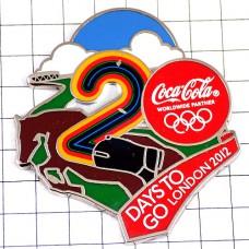 ピンバッジ・乗馬競技オリンピック五輪ロンドン英国コカコーラあと20日イギリス空と雲
