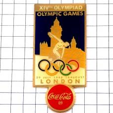 ピンバッジ・ロンドン五輪オリンピック英国イギリス大会コカコーラスポンサー