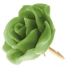 ピンズ・New!抹茶色 グリーンの ローズ 薔薇 バラ の 花 ピンバッチ ばら 金色の針 ピンズ