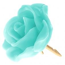 ピンズ・New!オパール色 薄いグリーンの ローズ 薔薇 バラ の 花 ピンバッチ ばら 金色の針 ピンズ