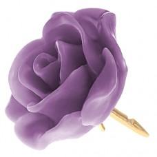 ピンズ・New!パープル紫色の ローズ 薔薇 バラ の 花 ピンバッチ ばら 金色の針 ピンズ
