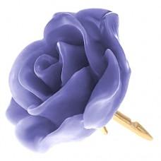 ピンズ・New!ウィステリア紫色の ローズ 薔薇 バラ の 花 ピンバッチ ばら 金色の針 ピンズ