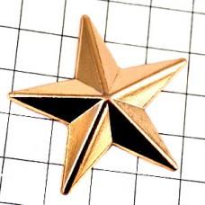 ピンバッジ・スター星ゴールド金色