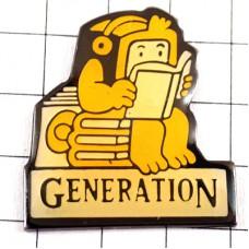 ピンバッジ・本読みロボット世代