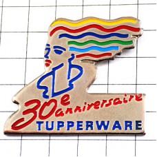 ピンズ・虹色の髪の女の子タッパーウエア容器30周年