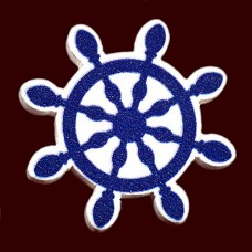 ピンバッジ・New!船のカジ舵ボートヨット