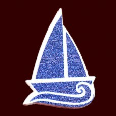 ピンバッジ・New!帆船と波ボートヨット