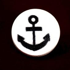 ピンバッジ・New!イカリ錨ボート船ヨット木製