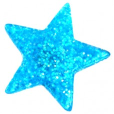 ピンズ・New!スター星型ブルー青色