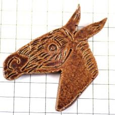 ピンズ・茶色い馬セラミック陶磁器製