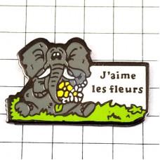 ピンズ・花が大好きなゾウ象