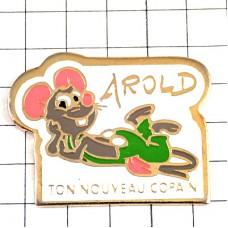 ピンズ・ネズミ緑のオーバーオール鼠サロペットつなぎ