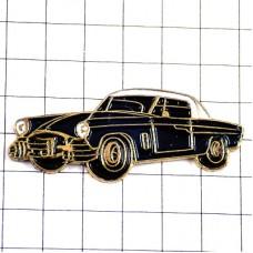 ピンバッジ・アンティークカー黒い車ツードア白い屋根