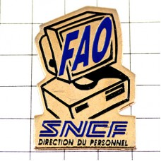 ピンバッジ・コンピュータ機デスクトップSNCFフランス国鉄