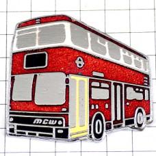 ピンバッジ・ロンドンバス車2階建てバス英国イギリス名物