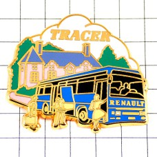 ピンバッジ・青い大型バス車ルノー旅客