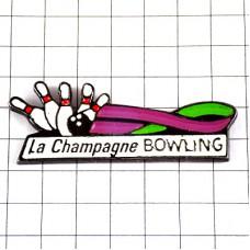 ピンバッジ・ボウリングの球ピン5本シャンパーニュ地方