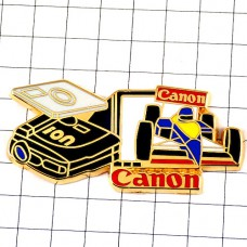 ピンズ・F1レース車スポンサーキャノン写真