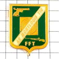 ピンバッジ・紋章シューティング射撃の的ライフル銃スポーツ拳銃