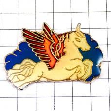 ピンズ・翼のあるユニコーン一角獣馬