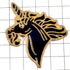 ピンズ・黒い馬ユニコーン一角獣