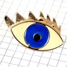 ブローチ・青い目ブルー瞳