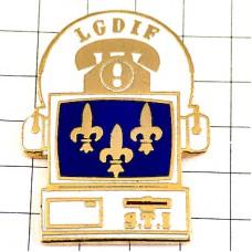 ピンズ・電話機コンピュータ百合の紋章