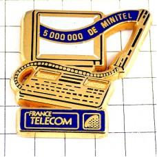 ピンバッジ・ミニテル電話機ゴールド金色
