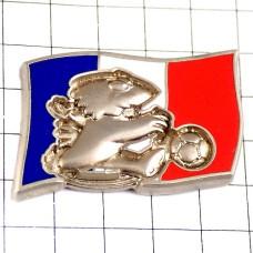 ピンバッジ・サッカーワールドカップ大会フランス国旗マスコット鳥