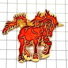 ピンズ・一角獣ユニコーン赤い馬