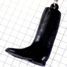 キーホルダー・黒いロングブーツ長靴