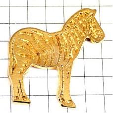 ピンズ・シマウマ縞馬ゴールド金色