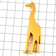 ピンバッジ・金色のキリン動物