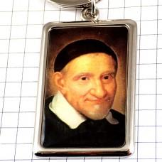 キーホルダー・聖人ヴァンサンドポール肖像画