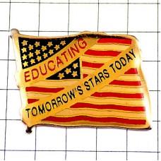 ピンバッジ・明日のスターを育てるアメリカ星条旗
