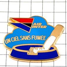 ピンバッジ・禁煙飛行機エールアンテール航空エールフランス灰皿