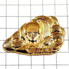 ピンズ・バービー人形ゴージャス巻き髪ゴールド金色