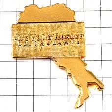 ピンバッジ・バレダオスタ州イタリアのアルプス地方ゴールド金色