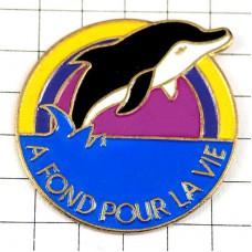ピンズ・イルカ海シャチのジャンプ虹