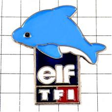 ピンズ・イルカ水色ドルフィンTV局TF1エルフ石油