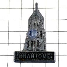 ピンバッジ・ブラントーム古い修道院の塔